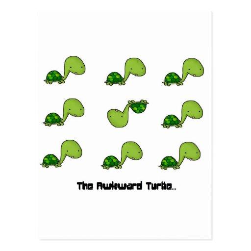The Awkward Turtle Post Card