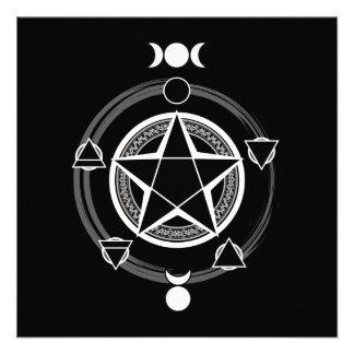 The Azodnem Dark Pentacle Invitations