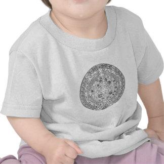 The Aztec Sun Calendar Circular Stone Design Shirt