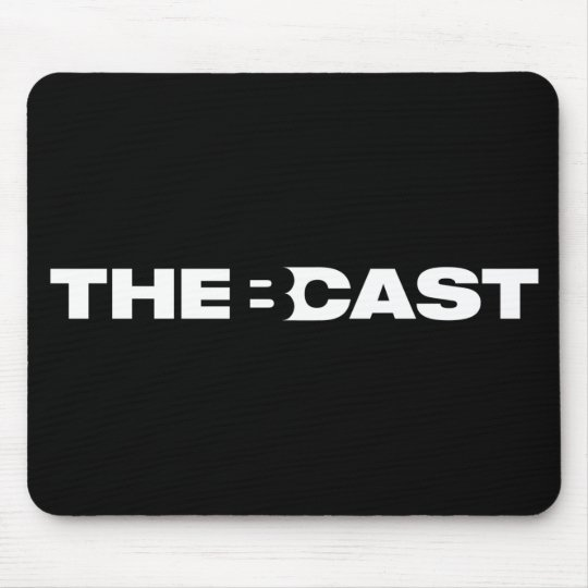 """The B-Cast"" black mousepad"