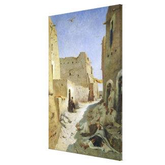 The Bab-El-Gharbi Road, Laghouat, 1859 Canvas Print