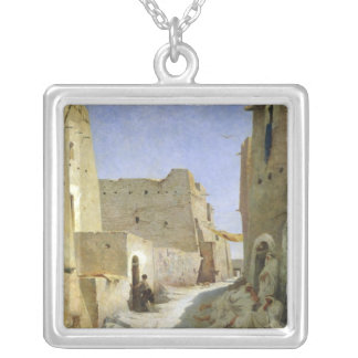 The Bab-El-Gharbi Road, Laghouat, 1859 Silver Plated Necklace