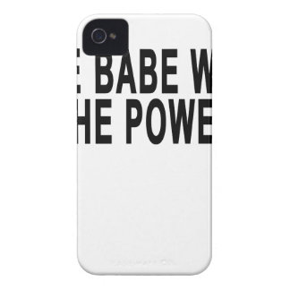 THE BABE WITH THE POWER.png Case-Mate iPhone 4 Case