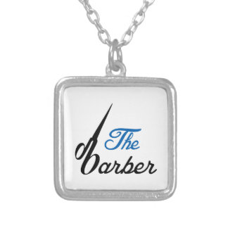 THE BABRBER SQUARE PENDANT NECKLACE
