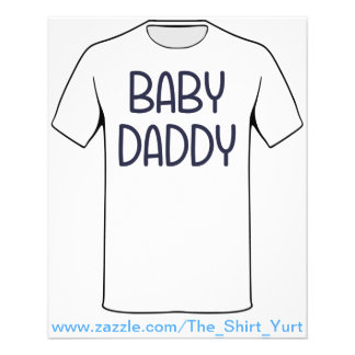 The Baby Mama Baby Daddy (i.e. father) 11.5 Cm X 14 Cm Flyer
