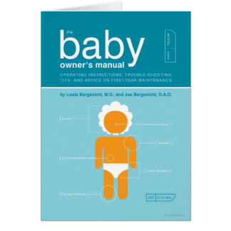 The Baby Owner's Manual Card