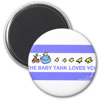 The Baby Tank Loves You 6 Cm Round Magnet
