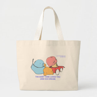 the baby tank loves you (and ice cream) jumbo tote bag