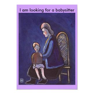 THE BABYSITTER 13 CM X 18 CM INVITATION CARD
