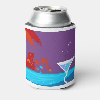 The bachelorette party Edition with palms Can Cooler