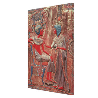 The back of the throne of Tutankhamun Gallery Wrapped Canvas