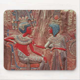 The back of the throne of Tutankhamun Mouse Mat
