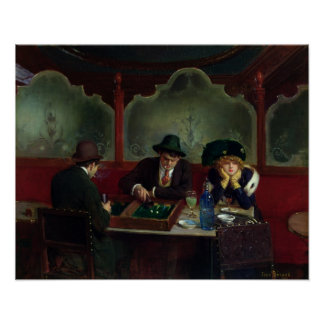 The Backgammon Players Poster