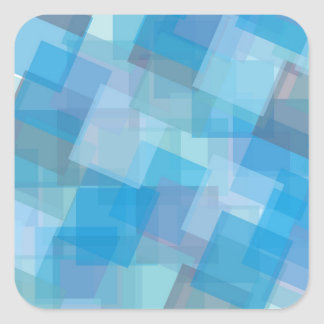 the-background-387205 ASSORTED BLUE LAYERED SQUARE Sticker