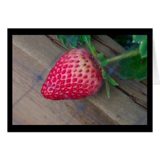The Backyard Strawberry Greeting Card