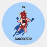the baconator round sticker