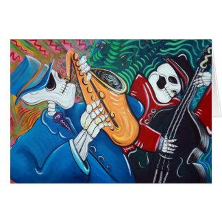 The Bad Blues Bone Band Greeting Card