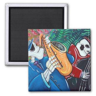 The Bad Blues Bone Band Square Magnet