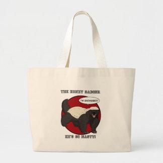 The Badassed Honey Badger Large Tote Bag