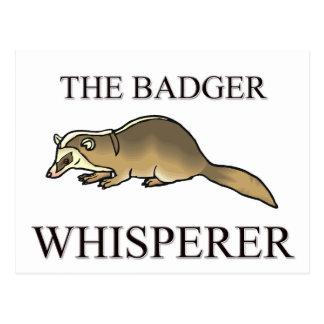 The Badger Whisperer Postcard