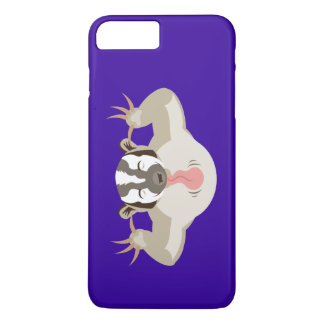 The Badgering Badger_Classic_purple iPhone 7 Plus Case