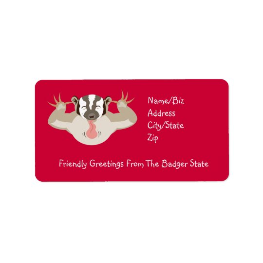 The Badgering Badger_Friendly Greetings Label