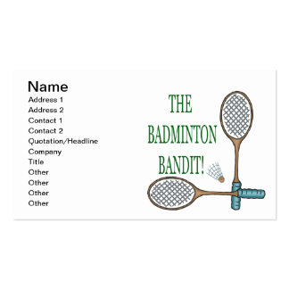 The Badminton Bandit 2 Pack Of Standard Business Cards
