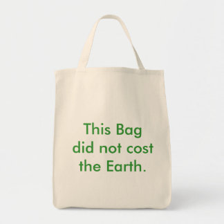 The bag that does not cost the earth...
