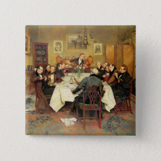 The Bagman's Toast 'Sweethearts and Wives'(oil on 15 Cm Square Badge