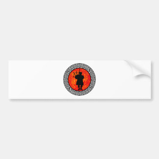 THE BAGPIPES PLAY BUMPER STICKER