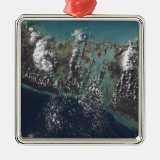 The Bahamas' Andros Island 2 Silver-Colored Square Decoration