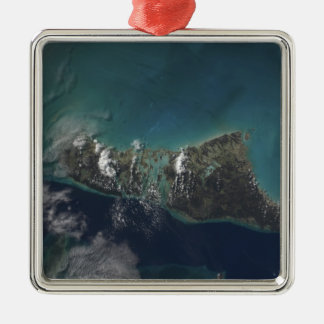 The Bahamas' Andros Island Silver-Colored Square Decoration
