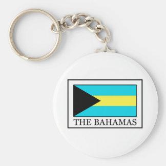 The Bahamas Basic Round Button Key Ring