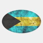 The Bahamas Flag Oval Sticker