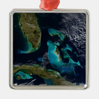 The Bahamas, Florida, and Cuba Silver-Colored Square Decoration