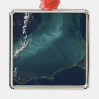 The Bahamas' lengthy narrow Eleuthra Island Silver-Colored Square Decoration