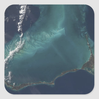 The Bahamas' lengthy narrow Eleuthra Island Square Sticker