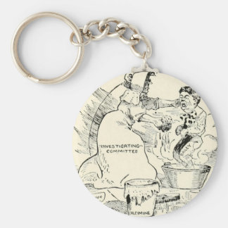 The Bailey controversy in Texas Basic Round Button Key Ring