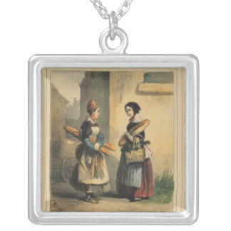 The Baker's Art, plate number 27 Silver Plated Necklace