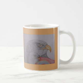 The Bald Eagle Basic White Mug