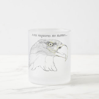 The Bald Eagle Frosted Glass Mug