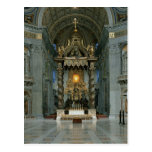 The Baldacchino, the high altar and the chair Post Card