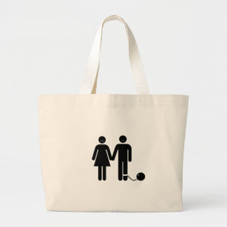The Ball and Chained groom Canvas Bag