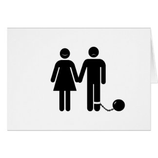 The Ball and Chained groom Greeting Card