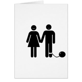 """The """"Ball and Chained"""" groom Greeting Card"""