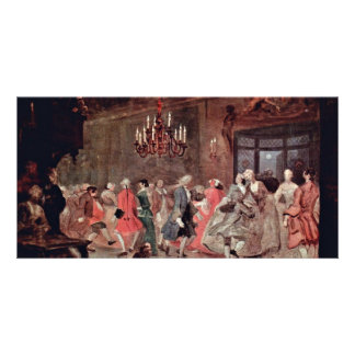 The Ball By Hogarth William Best Quality Photo Card Template