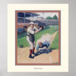 The Ball Game ~ Vintage Baseball Poster