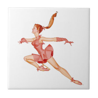 THE BALLERINA (Ballet Dancer) ~ Small Square Tile