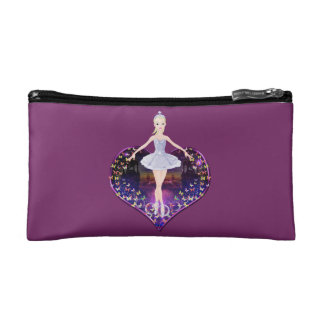 The ballerina butterfly princess cosmetic bags