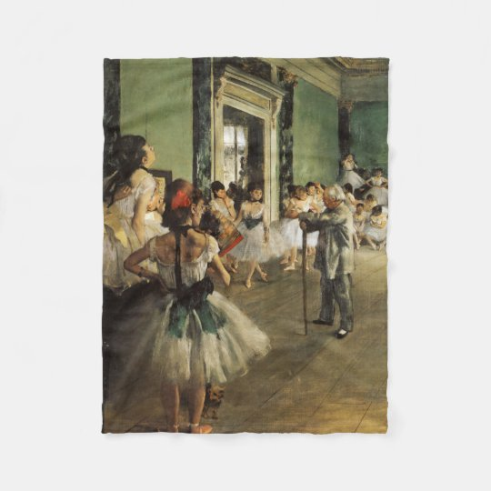 The Ballet Class, 1874 Edgar Degas Fleece Blanket